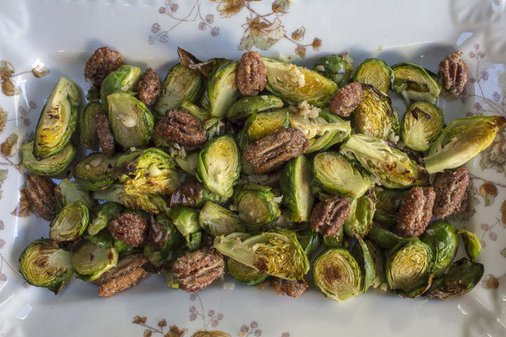 "Karen's Favorite Thanksgiving ""Sides"" ~ Roasted Brussel Sprouts & Chunky Cranberry Sauce"