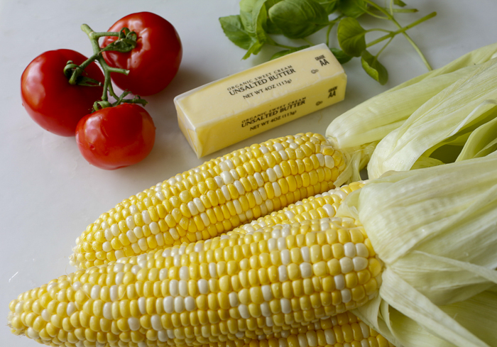 Ingredients for the grilled corn