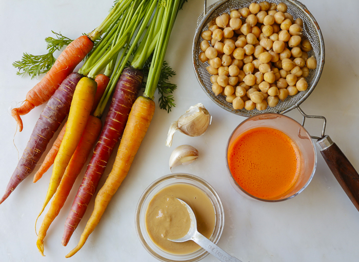Ingredients for the Carrot Hummus