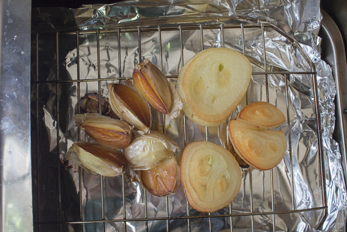 Smoke Onions and Garlic in a stove-top Camerons Smoker
