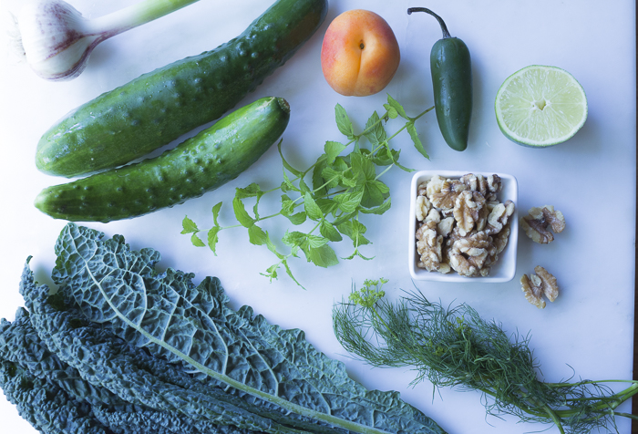 Ingredients for the Chilled Soup. Fresh Mint and Dill adds fresh flavor
