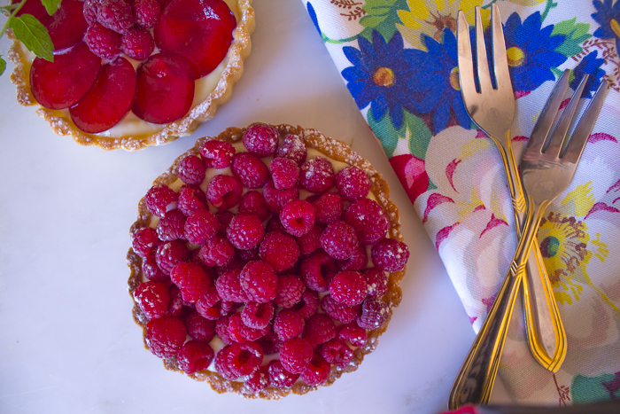 Fill the Tarts with Raspberries, or Gorgeous Bright Sugar Plums... or fruit of your choice