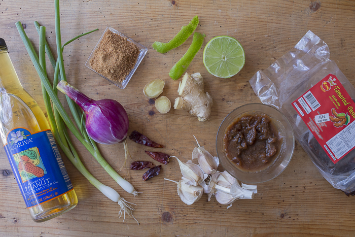"Ingredients for the ""master pad thai blender sauce"""