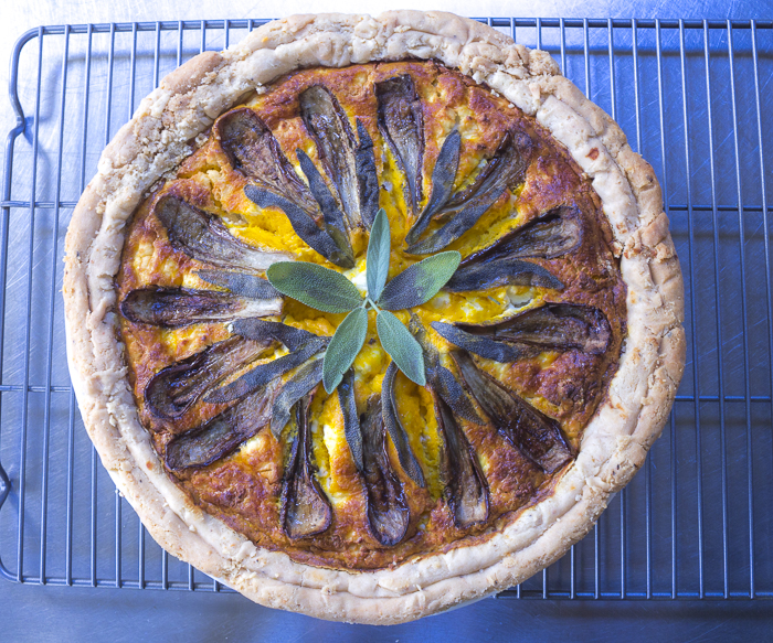 Kabocha Squash and Goat Cheese Quiche