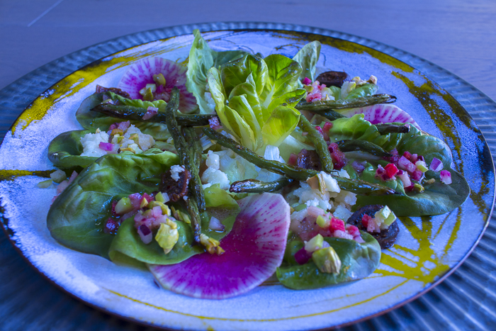 Fall Salad ~ Greens, Nuts and Fruits with a Pickled Radish and Apple Vinaigrette