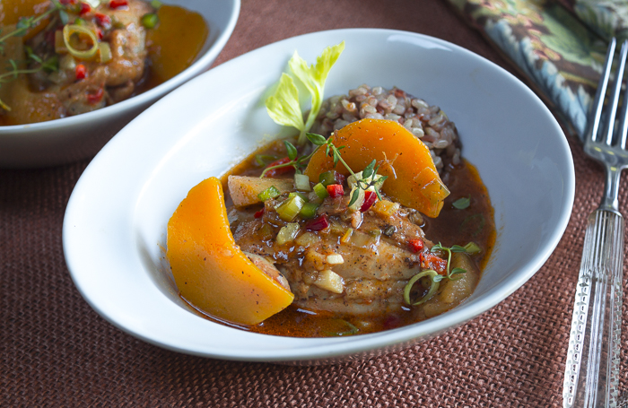 Chicken Etouffee with Butternut Squash and Apples