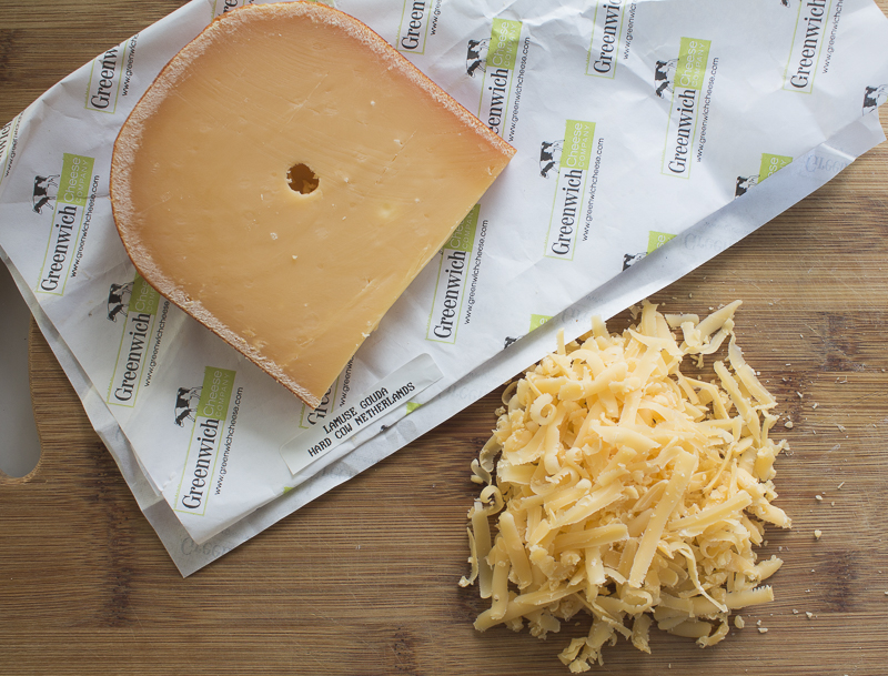 Top with an nutty yet creamy cheese such as L'Amuse Aged Gouda