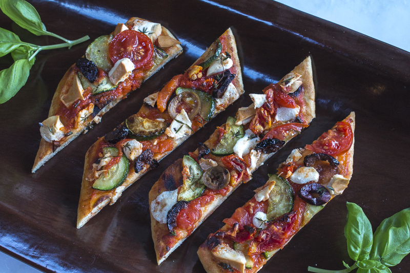 One more topping idea: Mixed Vegetables with Olives, Cheeses and Garlic