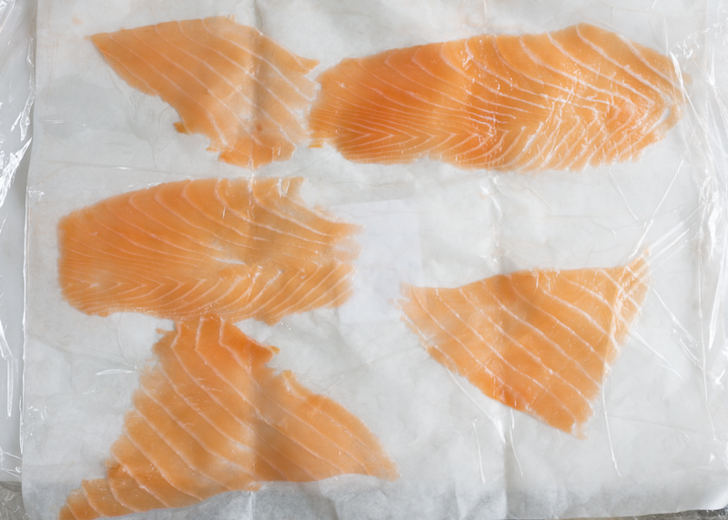 Perfect, thinly hand-sliced smoked salmon