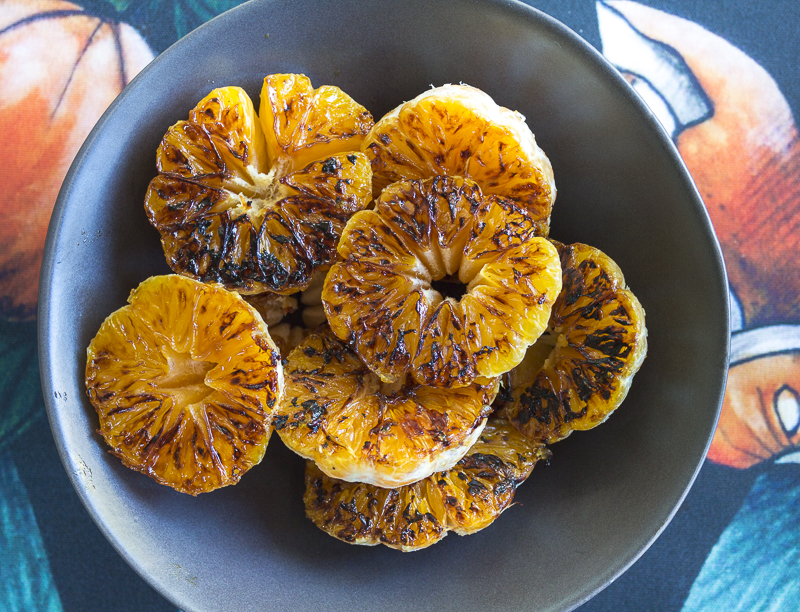 Charred Clementines, ready to chop for the salsa