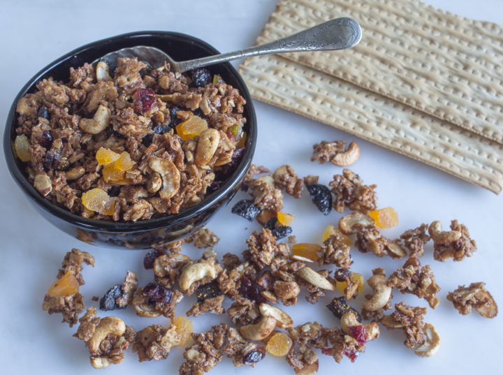 Matzo Granola with Fruits and Nuts