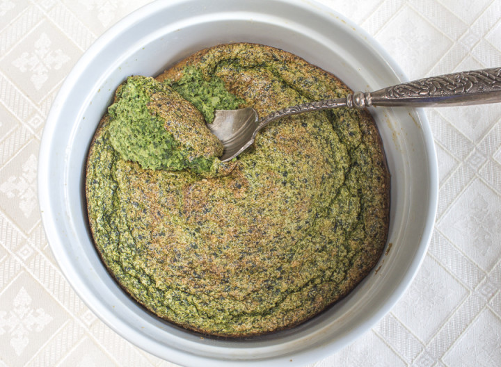 Spinach,  Kale and Sunchoke Kugel-Soufflé – Perfect for Passover