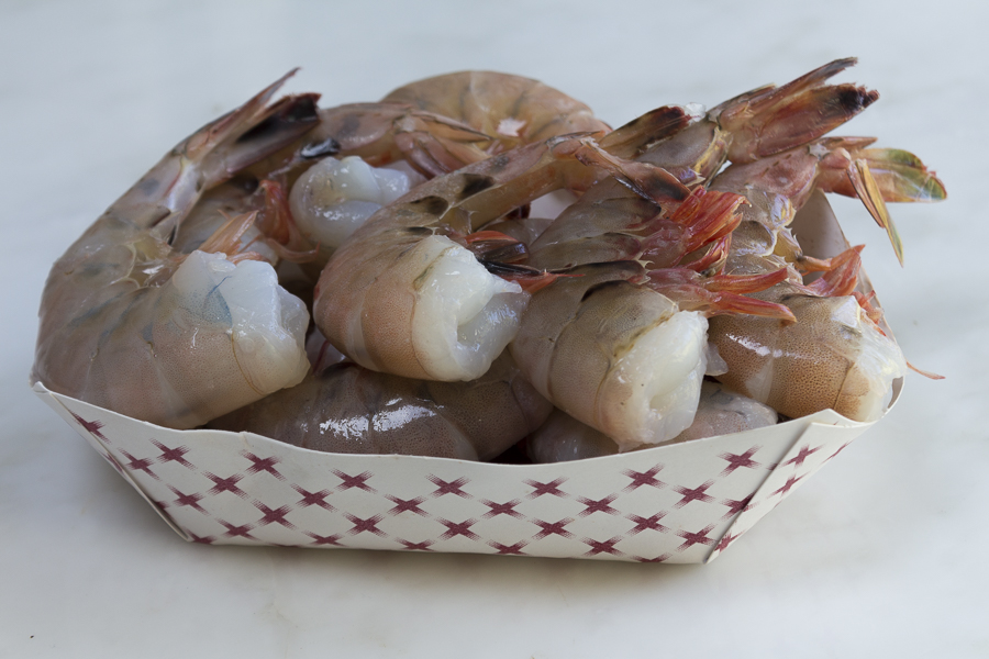 Delicious fresh Florida Pink Shrimp, never frozen - great addition to this recipe