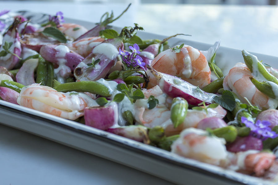 Serve at room temperature and garnish with fresh herbs and edible flowers