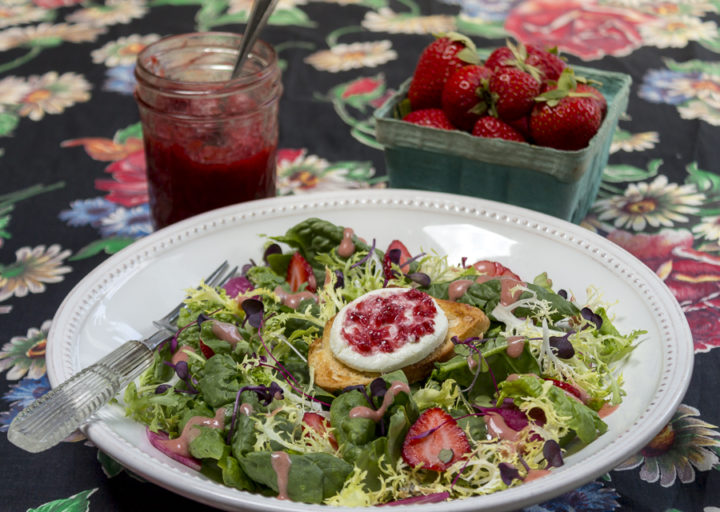 Strawberry Jam and Strawberry, Spinach & Goat Cheese Salad