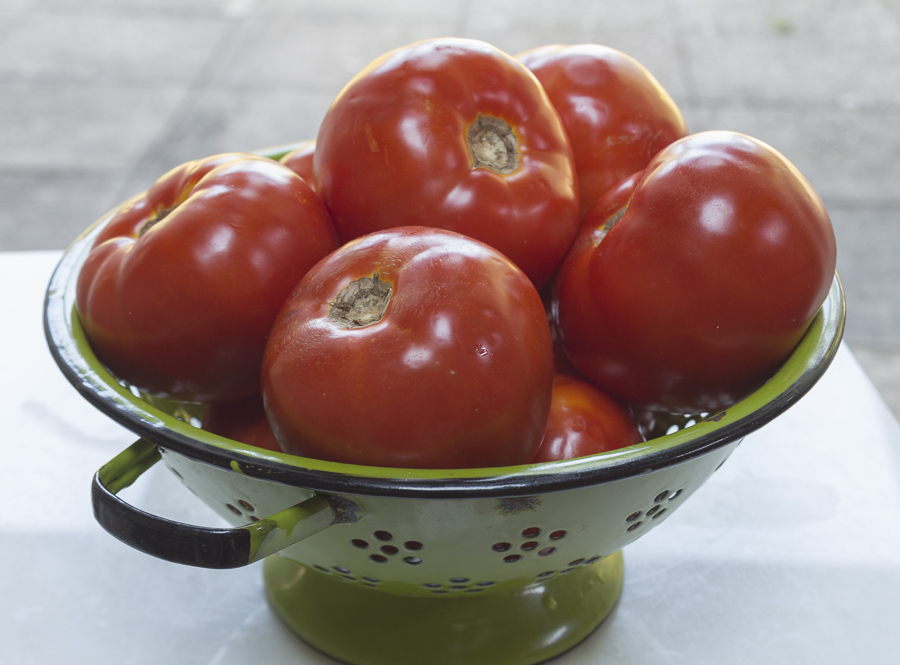 Choose red-ripe farm fresh tomatoes... plum tomatoes are great too