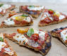 Grilled Pizza with Raw Garden Tomato Sauce