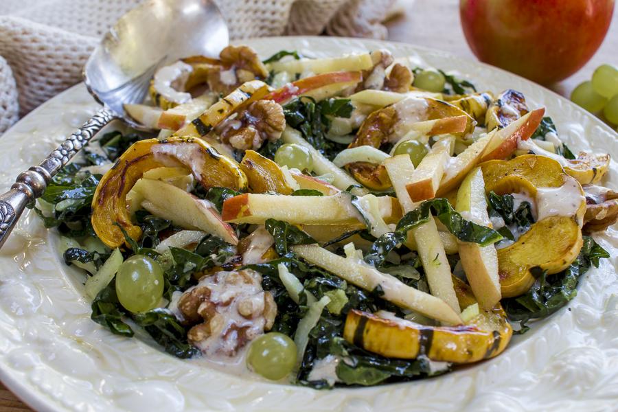 Spinach Waldorf Salad With Cinnamon-Apple Dressing Recipe — Dishmaps
