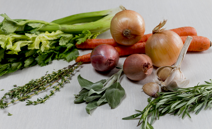 Ingredients for the gravy