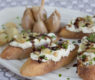 Goat Cheese and Garlic Pâté with Walnuts and Chives ~ Balsamic-Honey Drizzle