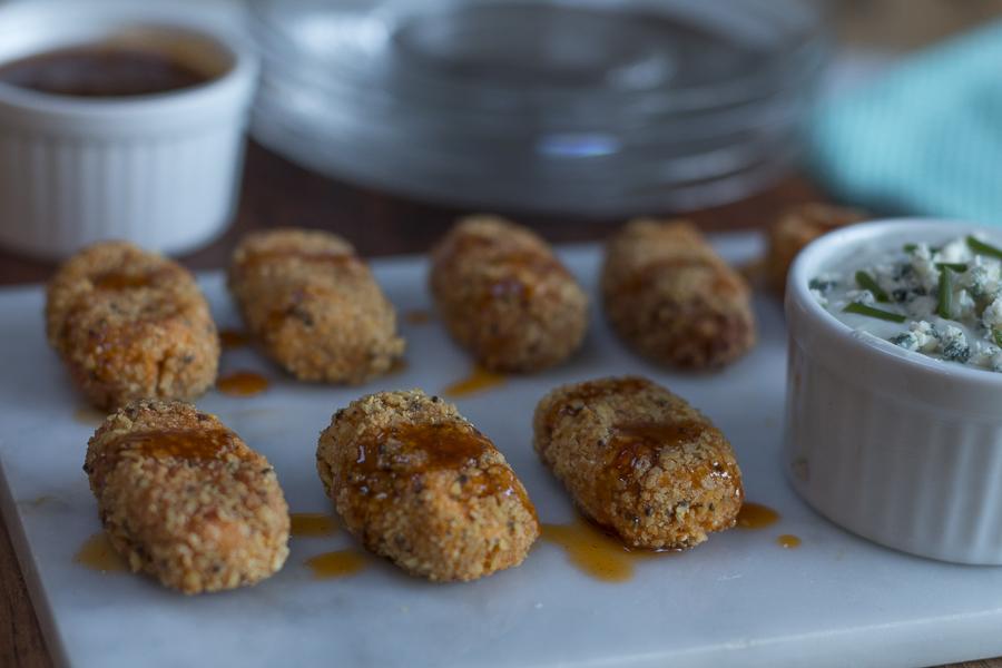 Sweet Potato Tater-Tots with Tortilla Crumbs ~ Hot Sauce ...