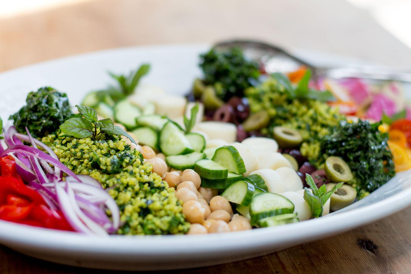 Quinoa Tabbouleh Salad ~ With a Melange of Fresh Crisp Vegetables ...