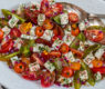 Simple Tomato & Feta Salad with Dill and Radish Vinaigrette