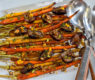Roasted Carrots with Fresh Figs ~ Pomegranate Glaze and Pistachios
