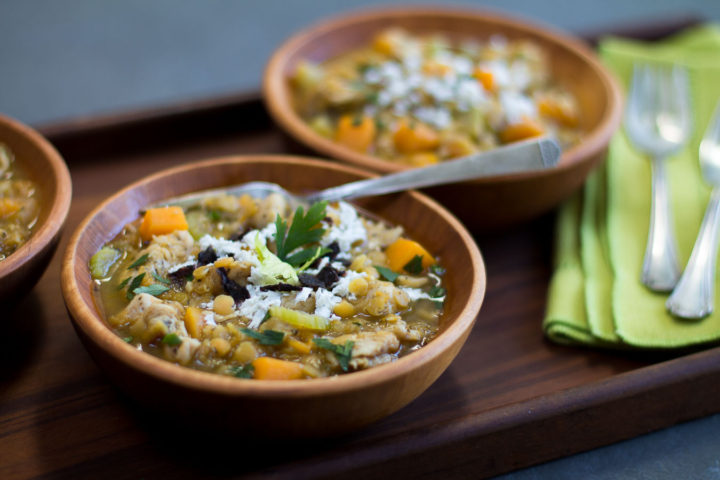 Chicken-Lentil Chili with Butternut Squash