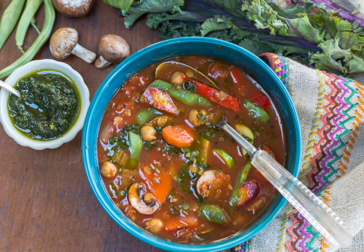 Mediterranean Vegetable Soup – packed with healthful goodness
