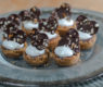 Black Bottom Chocolate Tarts with a Caramel Pretzel Crust