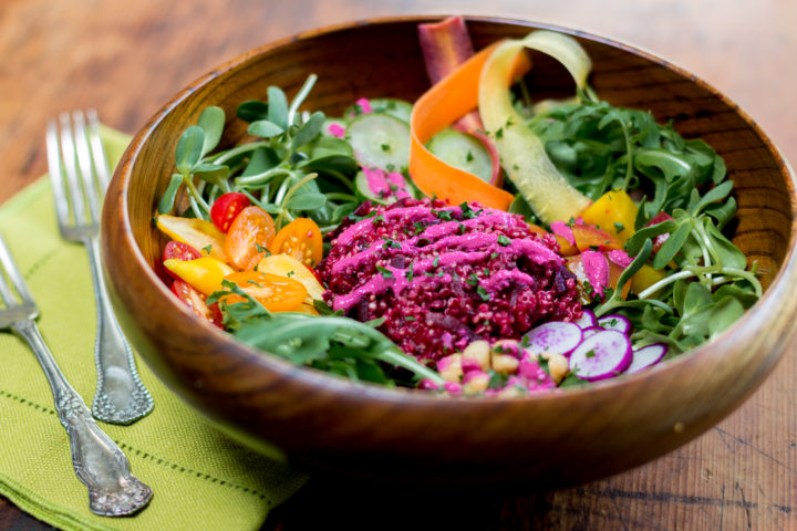 Buddha Bowl With Beets, Quinoa and a Bevy of Vegetables