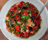 Summer Charred Tomato Salsa Over Brined Grilled Chicken