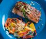 Glazed Hoisin Salmon and Shaved Carrot Slaw