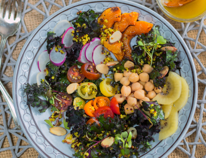 Antioxidant Kale Salad with Lemony EVOO Dressing