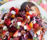 New for Spring: Strawberry and Beet Salad with Strawberry-Honey Balsamic Vinaigrette