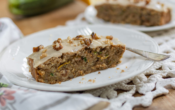 Maple Zucchini Walnut Bread