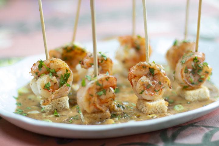 Holiday Recipe: Skewered Shrimp Scampi Appetizer
