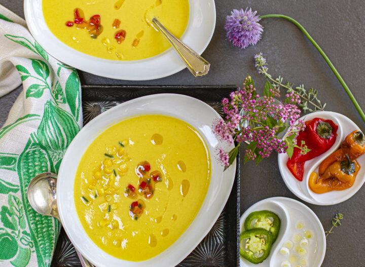 Velvety Cool Corn Soup